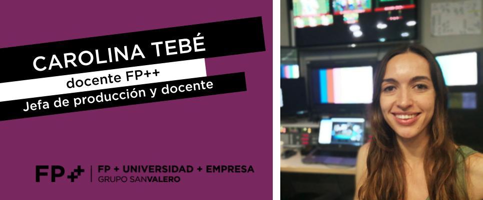 Carolina Tebé+, docente de Fp++