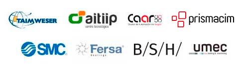 Empresas colaboradoras con FP++ Diseño Mecánico Fp++