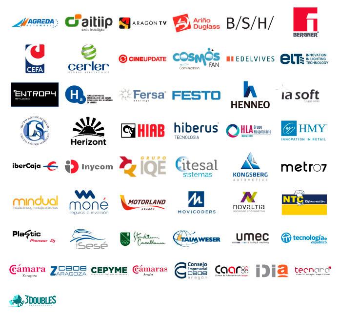 Logos empresas colaboradoras con FP++
